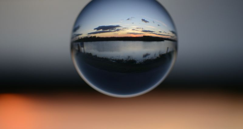 Everglades Sundown Viewed Through A Crystall Ball