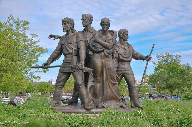 Full Perspective -- Pioneer Family Memorial
