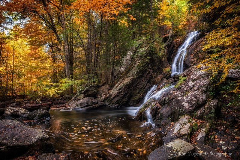 """""""Campbell Falls, in Fall"""""""