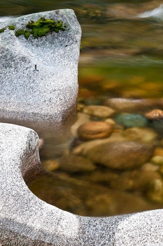 River-worn rock on Merced