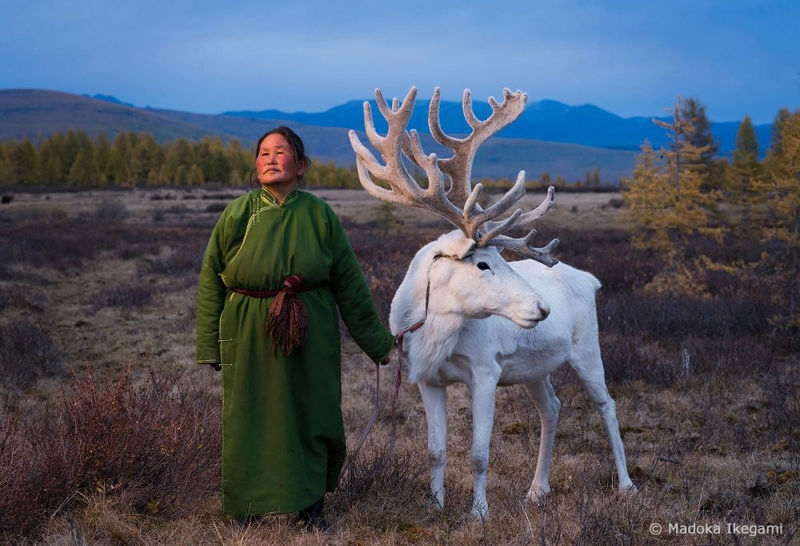 """Woman with Reindeer"""