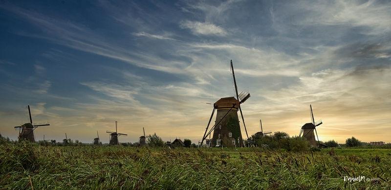 kinderdijk, windmills the netherlands