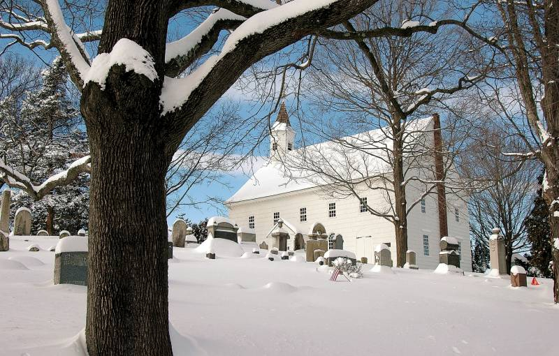 Tennant Church After The Blizzard