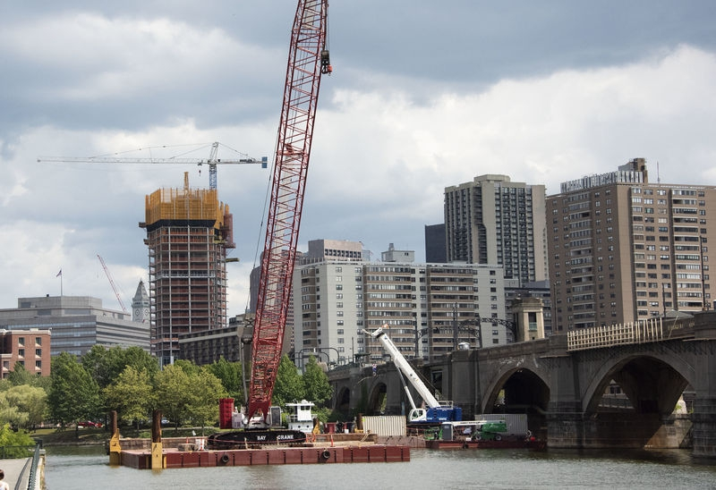Construction on the Charles