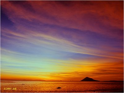 After sunset in Manado Tua