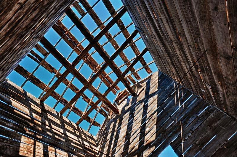 1800's Wood Grain Silo Open Roof