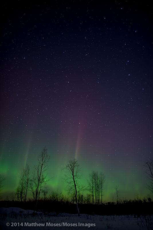 Aurora reaching for the Big Dipper