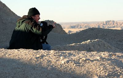 Bob Johnson at the Badlands