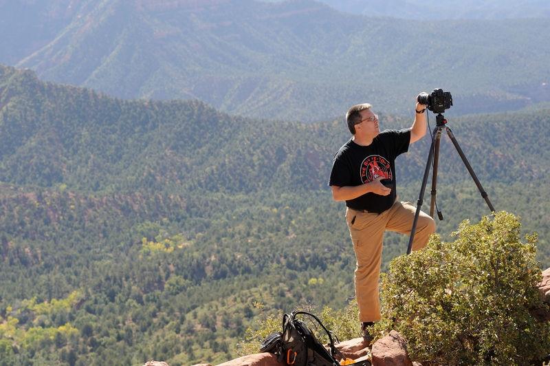 Steve Johnson at Timber Creek Overlook trail - Kolob Canyons, Zion National