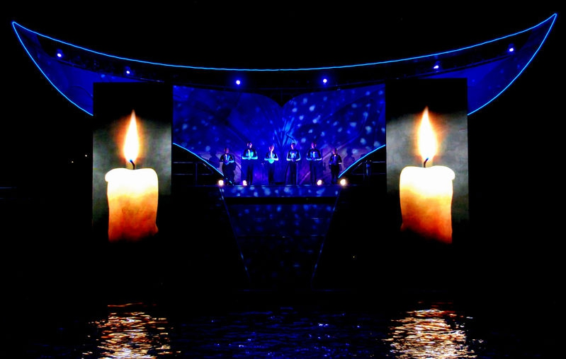CANDLES  AT THE STADIUM