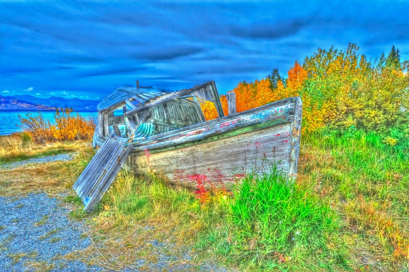 Autumn Fishing Boat