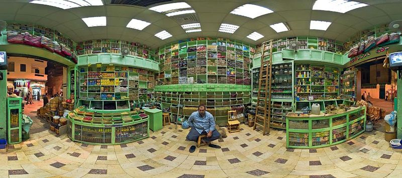 Spice Shop in the Souq of Asswan (Egypt)