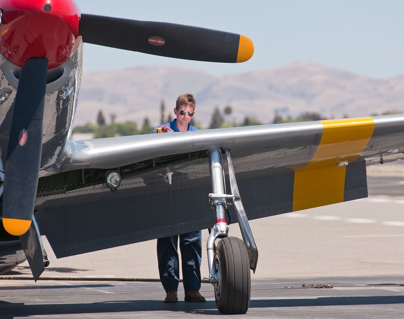 Fueling the P-51, Livermore Air Show