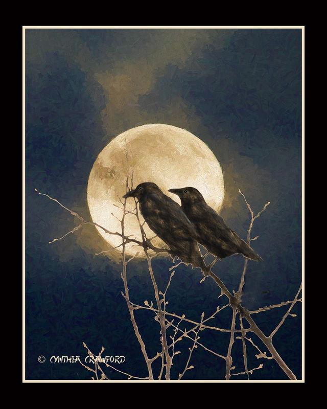 Ravens in the Moonlight