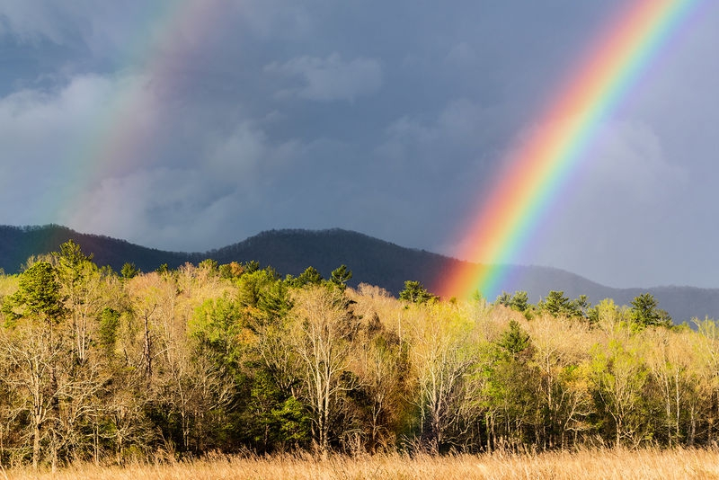 Rainbow in Cades Cove
