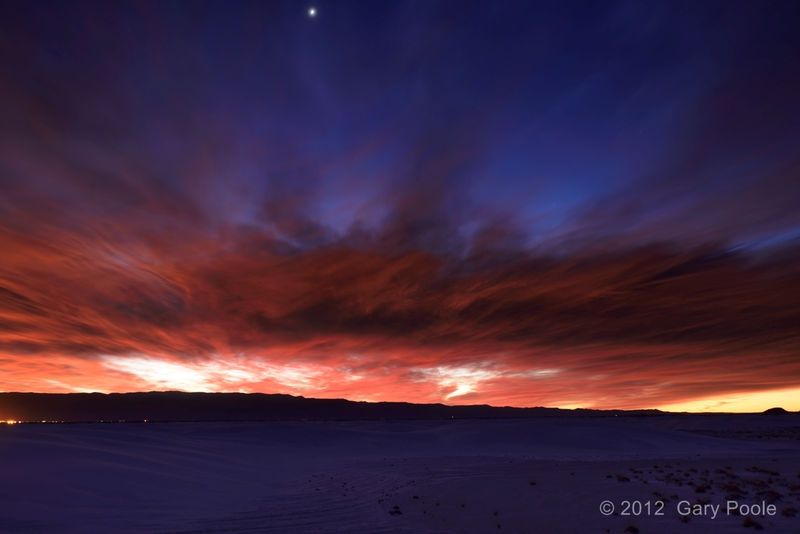 Dawn Sky from White Sands - 1