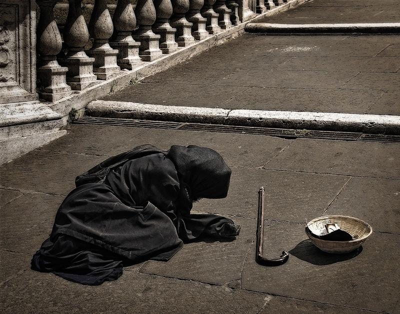 Beggar Woman in Rome