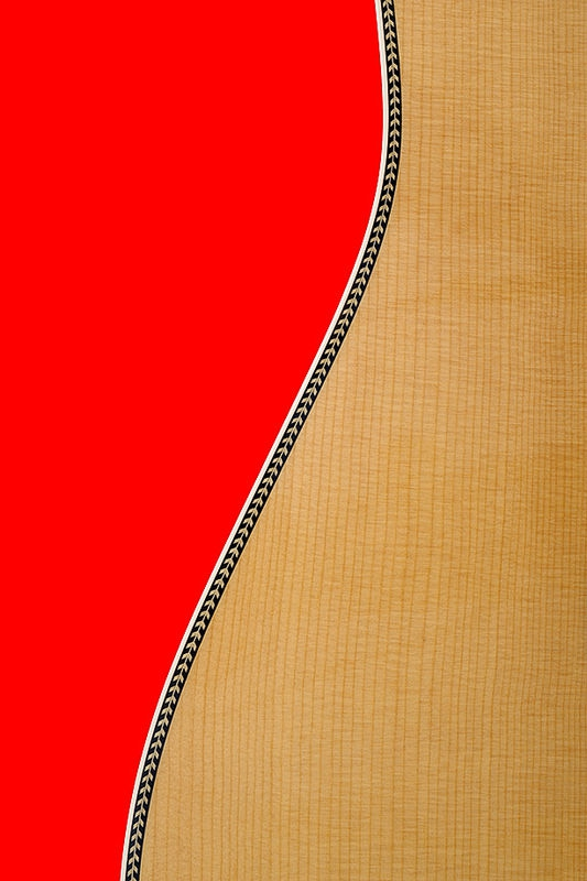 Guitar Over Red