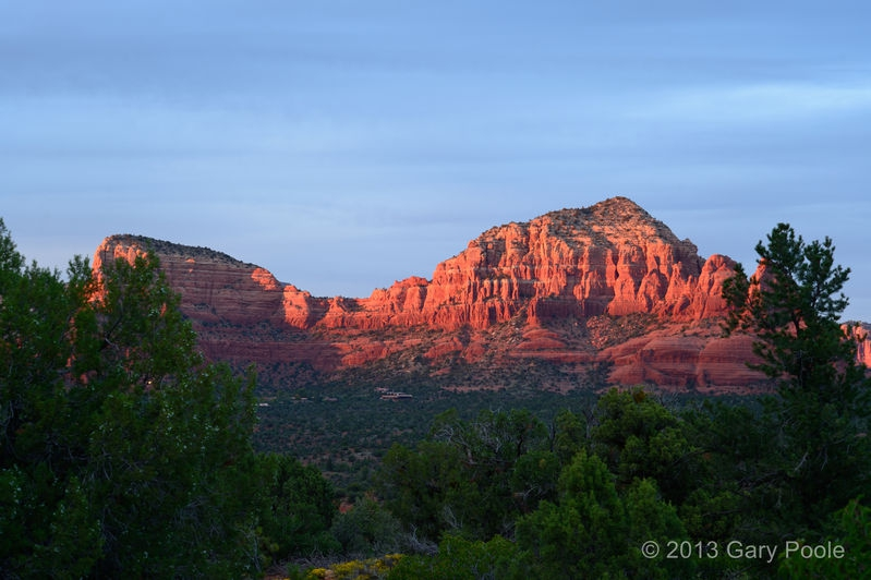 Sunset on Twin Buttes