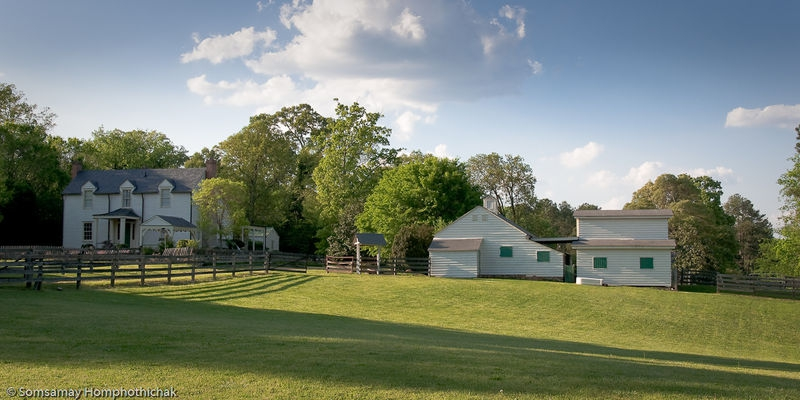 White & Green Barn