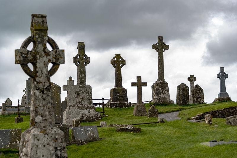 Gravestones at the Rock of Cashel, Cashel, County Tipperary, Ireland