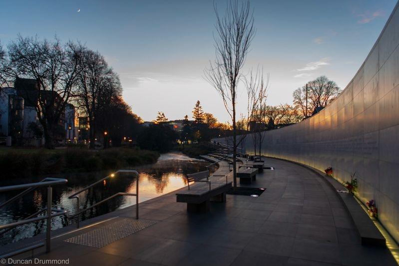 Early morning at Memorial Wall