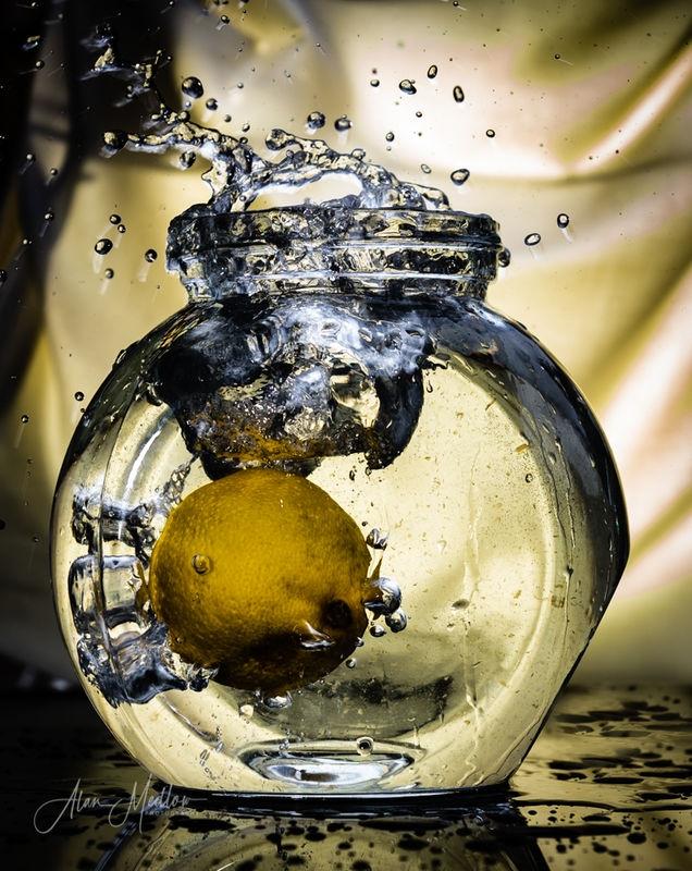 a splash of lemon