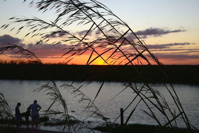 Everglades Boat Ramp At Sundown