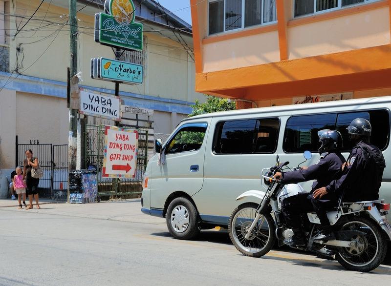 Alternative transportation of Police in Roatan Island, Honduras