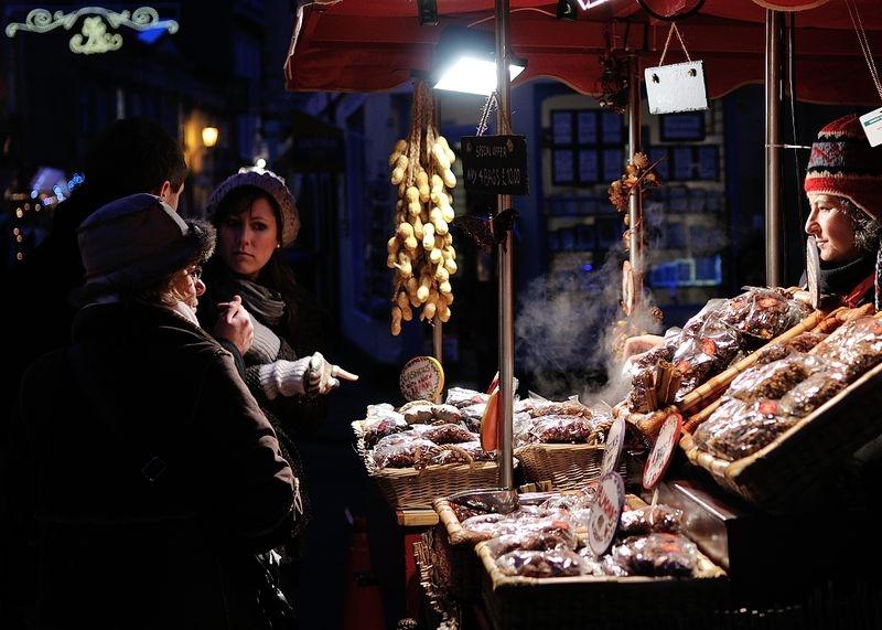 Buying Nuts at Bath Christmas Market