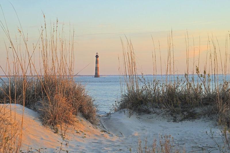 Morris Island Lighthouse at Sunrise (Folly Beach, S.C.)