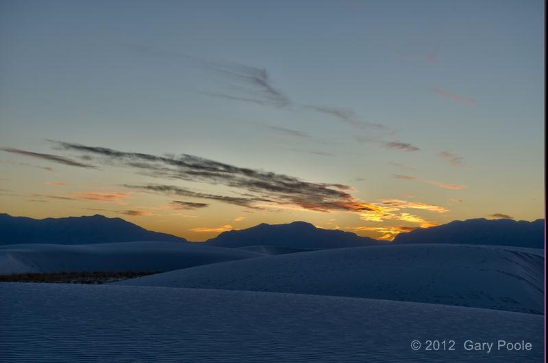 Sunset at White Sands - 2