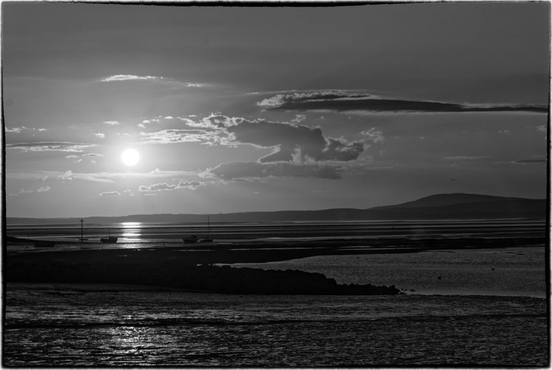 MORECOMBE BAY SUNSET.