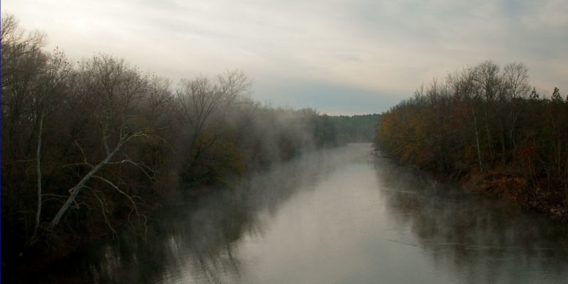 """A wider view of """"Fog on the Saluda River,"""" Newberry/Greenville co"""