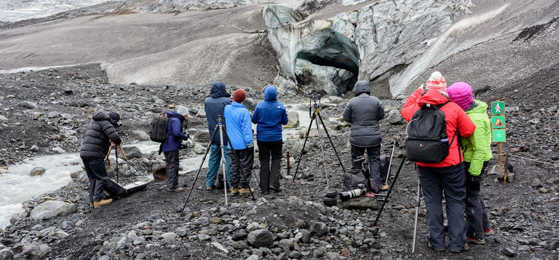 Photographing the Ice Cave