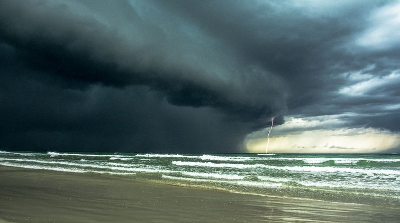 Coastal Thunderstorm: July Landscape Contest - A Low Viewpoint