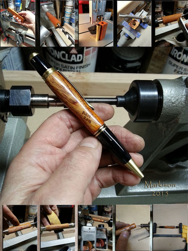 Lathe Turned Cocobolo Pen Body