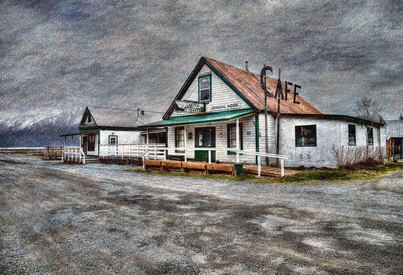 Main Street in Hope, Alaska