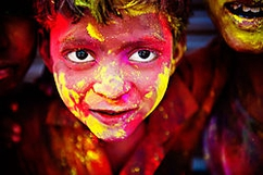 "Taken at the recent festival of ""Holi"" which marks the beginning of summers here…"