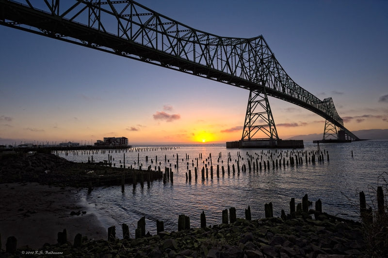 Sunset Under The Astoria Bridge
