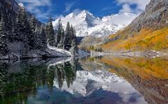 "Winner November Landscape  Theme: ""Colorful Landscapes""   ""Maroon Bells Reflection ""     D7100, Tokina 12-24, ISO 100, f16@1/30, tripod"