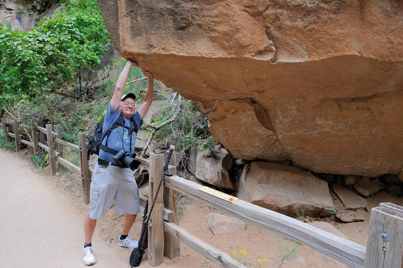 Rick Matheny (RHMJR2) at Zion Canyon - Zion National Park