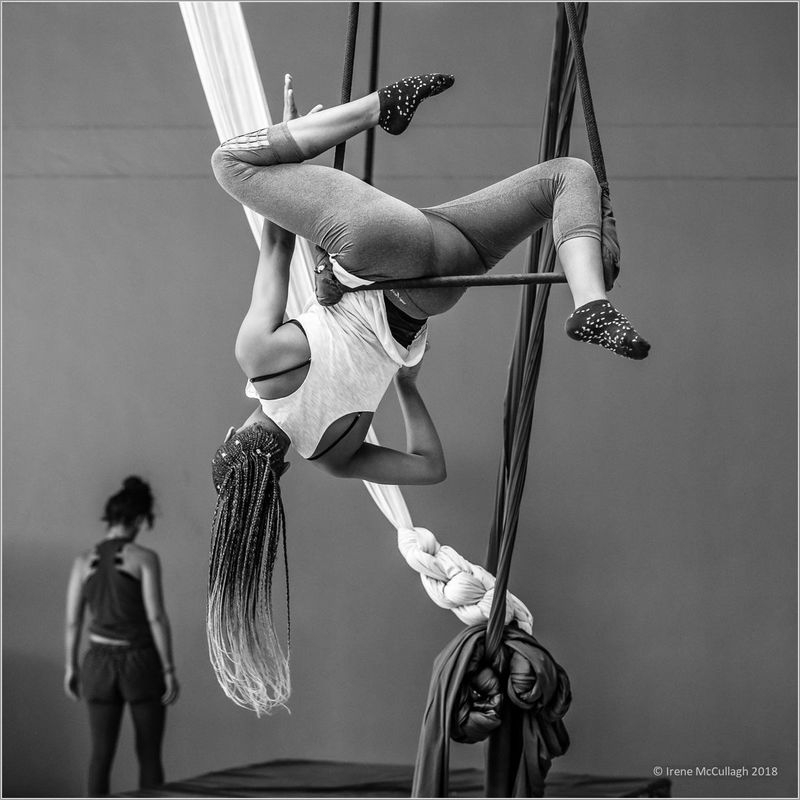 Aerialist's warm-up exercises