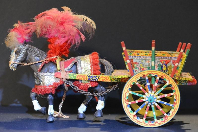 Miniature circus horse & cart