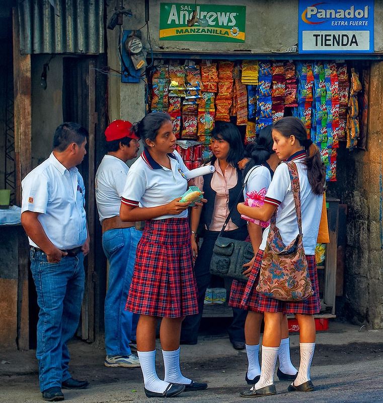 Waiting For the Bus in Guatemala