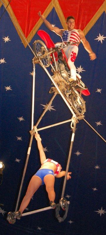 Vertical Panorama of Circus Act (Uporama?)