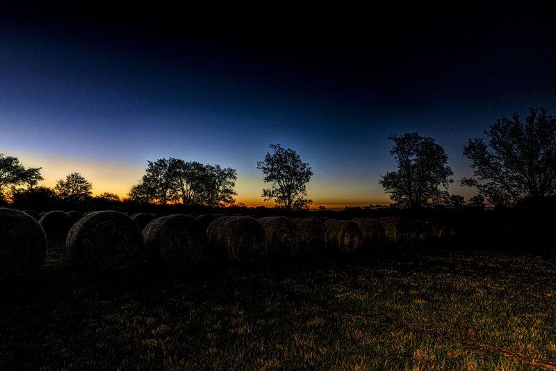 Hay at sunrise #1