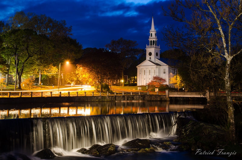 Church at Night by the Falls