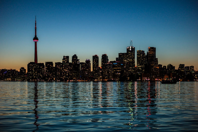 Toronto Silhouette  from Wards Island Ferry