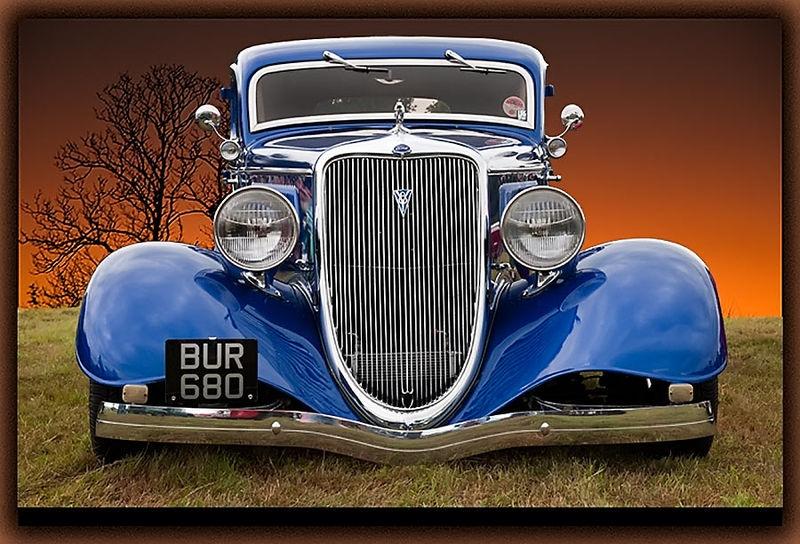 Blue V8 - Front